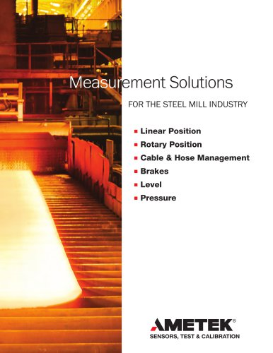 Measurement Solutions for the Steel Mill Industry