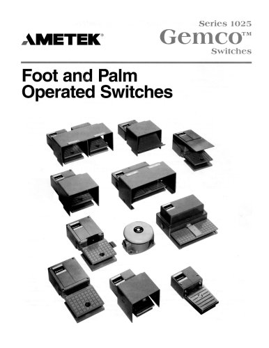 Press Safety Products - 1025 Foot & Palm Switches