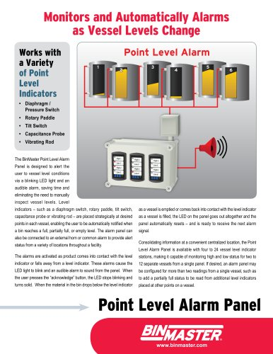 BinMaster Point Level Alarm Panel Brochure