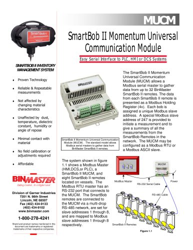 BinMaster SmartBob MUCM Brochure