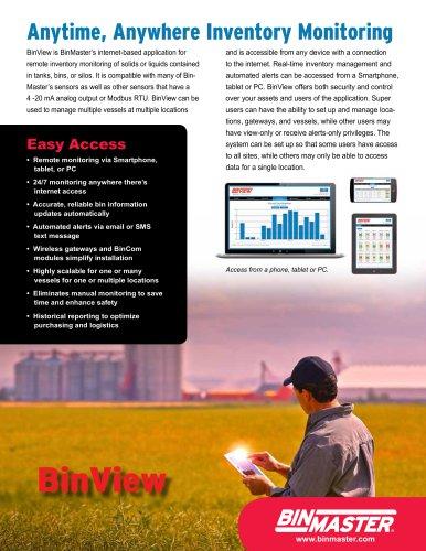 BinView Web-Based Bin Monitoring Brochure