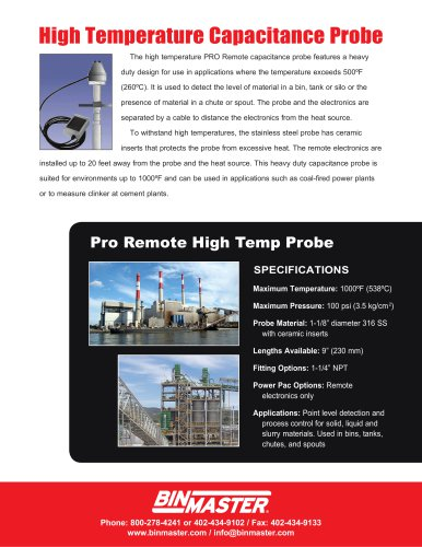 High Temperature Capacitance Probe Brochure