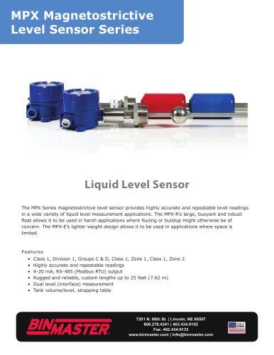 MPX Magnetostrictive Level Sensor Brochure
