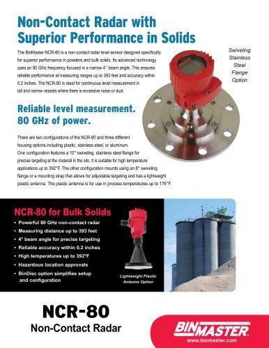 NCR-80 Non-Contact Radar Brochure