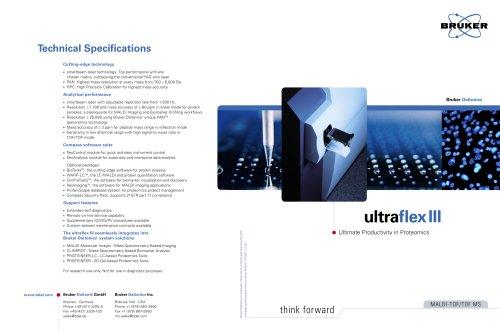 Brochure ultraflex III & ultraflex III TOF/TOF