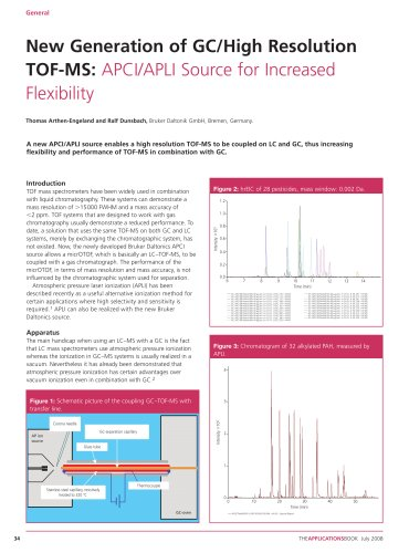 New Generation of GC/High Resolution TOF-MS: APCI/APLI Source for Increased Flexibility