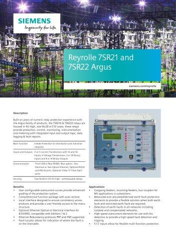 7SR21 & 7SR22 Argus