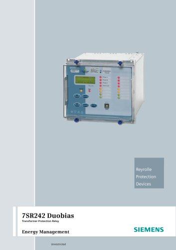 7SR242 Duobias Transformer Protection Relay Energy Management