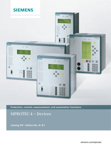 Protection, control, measurement, and automation functions SIPROTEC 4 – Devices
