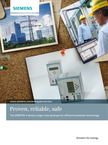 Proven, reliable, safe The SIPROTEC 4 device range is the synonym for efficient protection technology