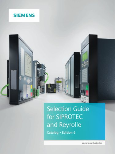 Selection Guide for SIPROTEC and Reyrolle