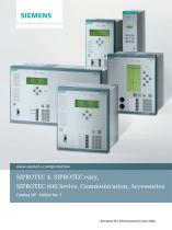 SIPROTEC 4, SIPROTEC easy, SIPROTEC 600 Series, Communication, Accessories Energy Automation Catalog SIP · Edition No. 7