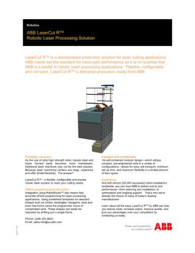 ABB Laser Cutsheet_IRBP R