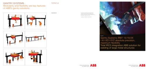 Gantry Systems IRBT 15/16/26 i-X/i-XZ/i-XYZ Brochure