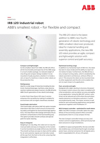 IRB 120 industrial robot