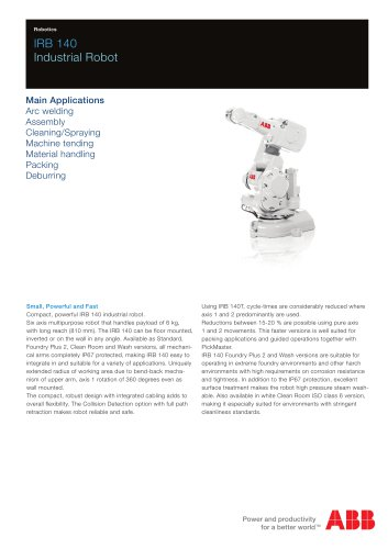 IRB 140 Industrial Robot