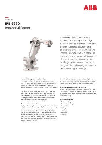 IRB 6660 - Industrial Robot