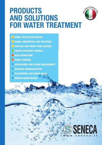 Products and solutions for Water Treatment