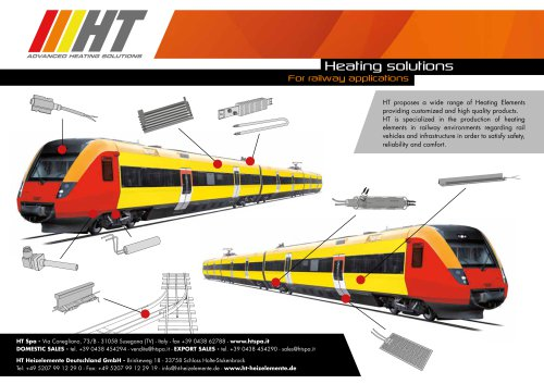 Heating solutions for railway applications