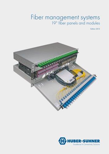 "19"" fiber panels and modules"
