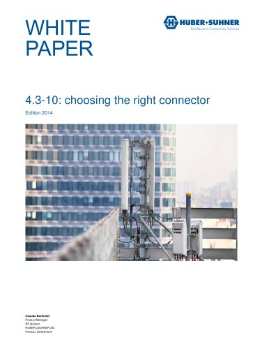 4.3-10 - choosing the right connector