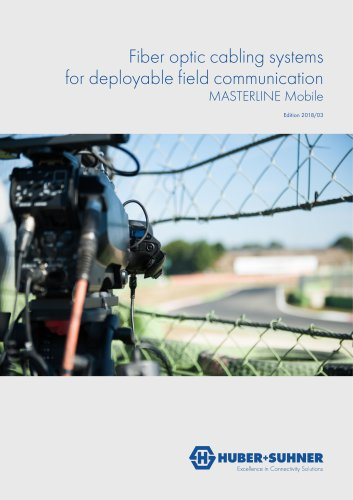 Fiber optic cabling systems for deployable field communication  MASTERLINE Mobile