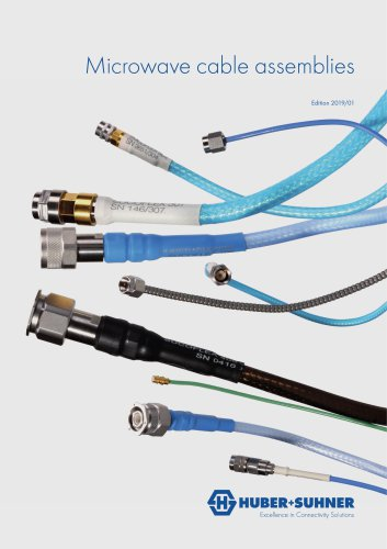 Microwave cable assemblies