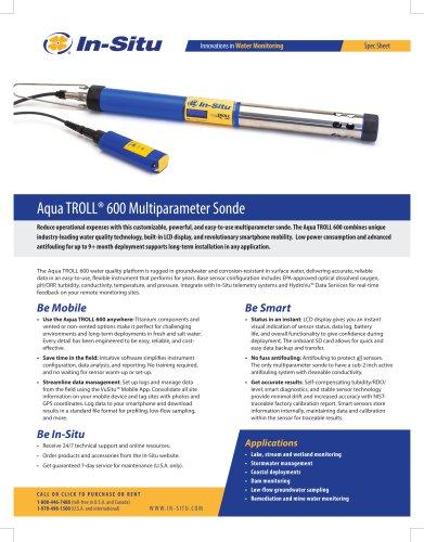 Aqua TROLL 600 Multiparameter Sonde