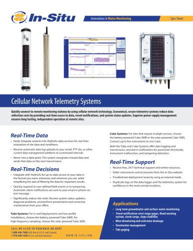 Cellular Network Telemetry Systems