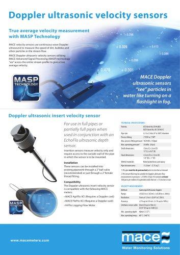 Doppler ultrasonic velocity sensors