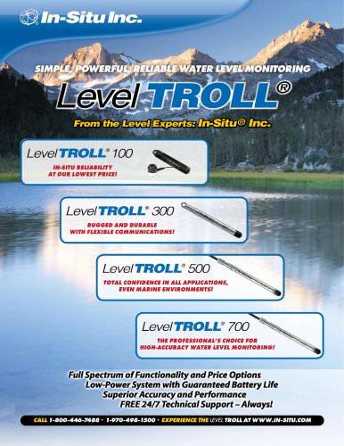 Level TROLL Family Brochure