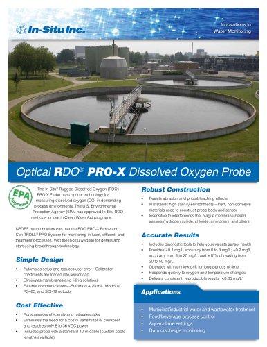 Optical RDO PRO-X  Dissolved Oxygen Probe