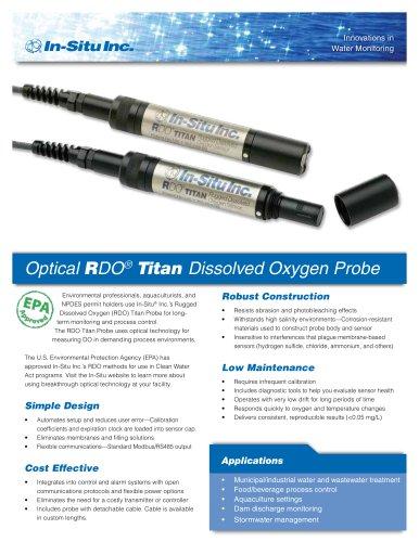 Optical RDO  Titan  Dissolved Oxygen Probe