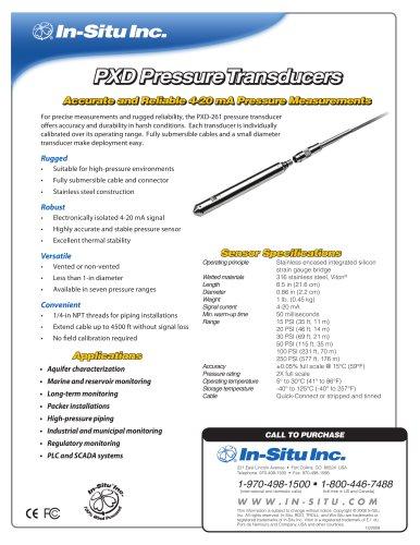 PXD Pressure Transducers