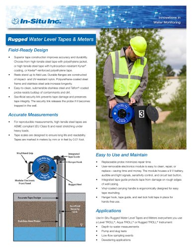 Rugged Water Level Tapes and Meters