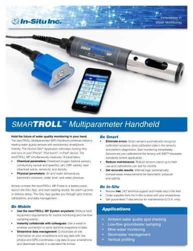 smarTROLL Multiparameter Handheld and iSitu Smartphone App