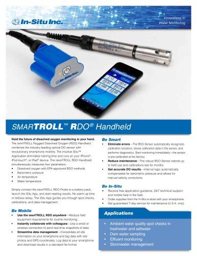 smarTROLL RDO (Dissolved Oxygen) Handheld and iSitu Smartphone App