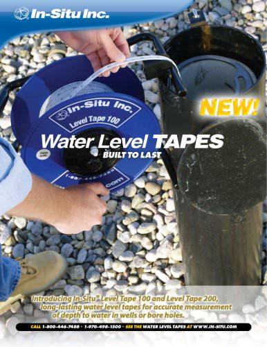 Water Level TAPES Spec Sheet