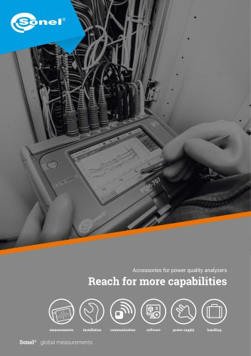 Accesories for power quality analyzers Sonel PQM series