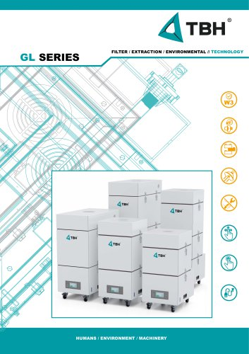 GL-Series // Extraction and filtration system with saturations filter - office/laboratory, sound level-optimized design // GL 230, GL 265