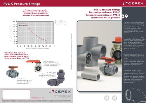PVC-C pressure fittings