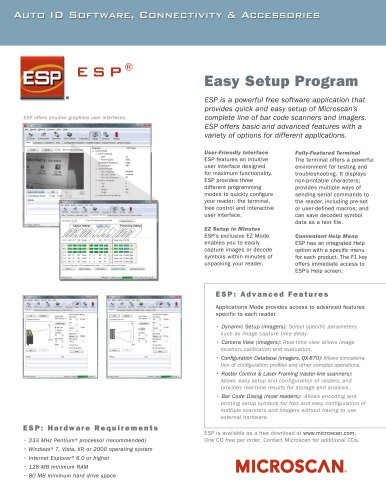 ESP® Easy Setup Program Software