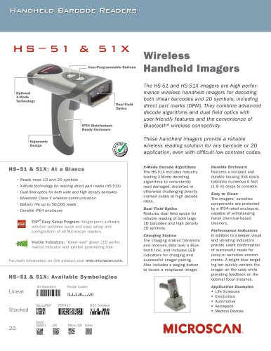 HS-51X Wireless DPM Reader