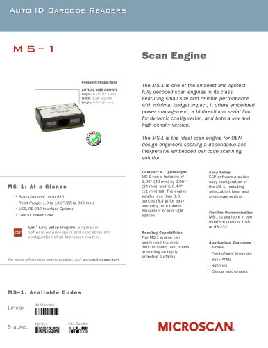 MS-1 Scan Engine