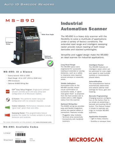 MS-890 Industrial Automation Scanner