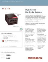 MS-9 High Speed Barcode Scanner - 1