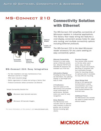 MS-Connect 210 Connectivity Solution with Ethernet