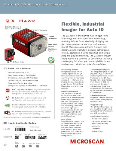 QX Hawk Flexible Industrial Imager