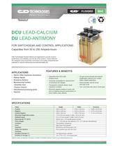 DCU Lead-Calcium / DU Lead-Antimony - 1