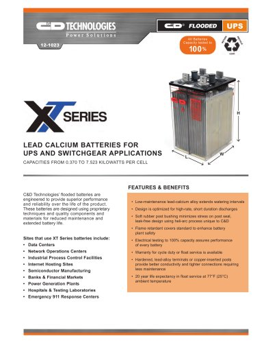 XT® Series and XT Plus®